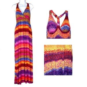 New Directions Colorful Sleeveless Dress Sz XL